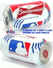 2013 MLB MAJOR LEAGUE BASEBALL BUDWEISER BEER CAN BALL MLB BUD-AB SPORT MAN CAVE