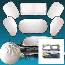 6PCS Car Side Rear Window Screen Sun Shade Mesh Cover Windshield Sunshade Visor