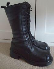 Rare Dr Martens 9910 Made in England Black Boots heels 14 eyelet UK 5 EU 38