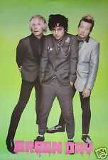 "GREEN DAY ""GROUP STANDING IN SUITS, LIME GREEN BACKGROUND"" POSTER FROM ASIA"