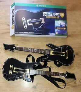 Guitar Hero Live Guitar Controller x 2 - Xbox One - No Dongle - With GAME
