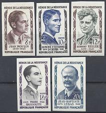 HEROS DE LA RÉSISTANCE N°1100/1104 TIMBRE NON DENTELÉ IMPERF 1957 NEUF * MH