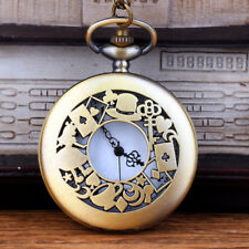 UK ALICE IN WONDERLAND POCKET WATCH Necklace Jewellery Collectable Gift Idea