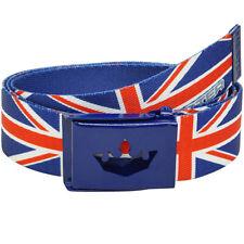 "MEISTER PLAYER GOLF WEB BELT - FITS UP TO 42"" - Pants UK England Flag UNION JACK"