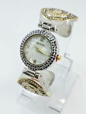Women Gold Sliver CZ ANTIQUE Bangle Bracelet Costume Wrist Watch #l7