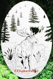 Moose Static Cling Window Decal 8x12 OVAL Sliding Glass Door NEW Western Decor