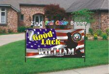 U.S. Navy Going Away Banner - Navy Good Luck Banner 13oz woven mesh vinyl banner
