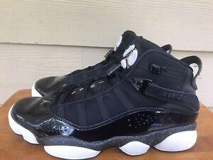 Nike Air Jordan 6 Rings Men's Black Metallic Gold Sneakers 322992-007 Size 9.5