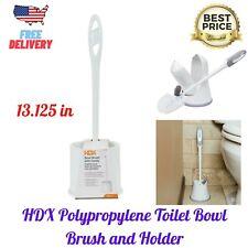 New ListingHdx Polypropylene Toilet Bowl Brush and Holder, Bathroom Cleaner Tool, 13.125 in