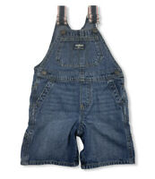 OshKosh B'Gosh Baby Denim Overalls Shortalls Blue Jean One Piece Sz 24M Vestbak