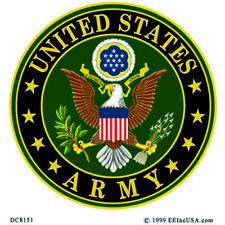 "United States Army Vinyl Decal / Sticker   3 1/4"" x 3 1/2"""