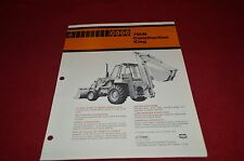 Case Tractor 780B Construction King Backhoe Dealer's Brochure DCPA2