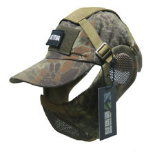 Tactical Foldable Mesh Mask With Airsoft Paintball Baseball Cap HDL