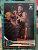 2019-20 OPTIC GREEN WAVE SP PRIZM ROOKIE KZ OKPALA MIAMI HEAT BASKETBALL