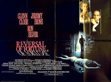 REVERSAL OF FORTUNE 1990 Glenn Close, Jeremy Irons, Ron Silver UK QUAD POSTER