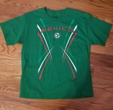 Boys mexico t shirt soccer EUC sz large 14-16 green