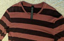 LULULEMON 5 Year Basic Long Sleeve Shirt Striped Plum Purple Men's Large NWT $78