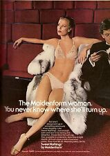 1979 Maidenform Lingerie Sexy Bra Panties Vintage Print Advertisement 1970s