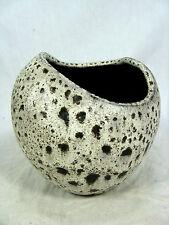 """Wilhelm & Elly Kuch 50´s design pottery vase asymmetric shape """" white """" glaze 10"""