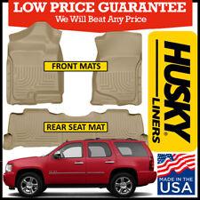 Husky Liners Weatherbeater 2007-2014 Chevy Tahoe Front & 2nd Row Floor Mats TAN