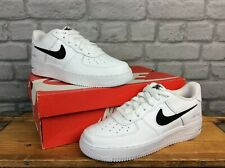 NIKE AIR FORCE 1 07 WHITE BLACK LEATHER TRAINERS VARIOUS SIZES CHILDRENS LADIES