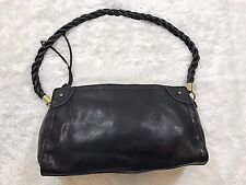 Relic brand by Fossil black faux leather handbag twist braided straps