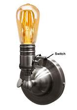 Titular de la luz de pared de estilo vintage y retro E27 Lámpara Luminaria Candelabro de pared con interruptor M0016W
