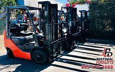 Qty 9 Refurbished 2016 Toyota 8fgcu25 Propane Forklifts 3 Stage 5000lb Cap