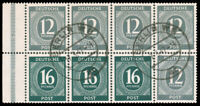 Germany 1946 12pf & 16pf BOOKLET PANE OF EIGHT USED #539a Berlin DS CV$120