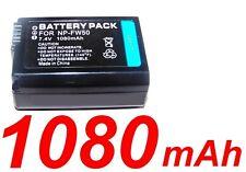 ★★★ 1080mAh BATTERIE NP-FW50 Pour Sony Nex-6, Nex-7 A55, A33 A3500 A5100