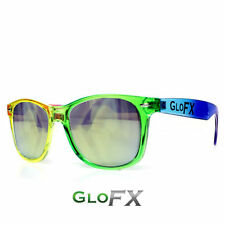 15240f32456 GloFX Transparent Rainbow Diffraction Glasses - Gold Mirror Rave EDM  Firework