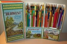 Vintage Cumberland Derwent Case No. 1972 Series No. 19 Colour Pencils Set Htf