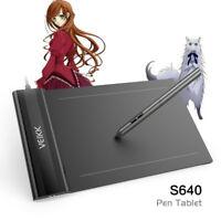 "VEIKK S640 6x4"" Graphic Drawing Tablet 5080 LPI 230 RPS 8192 Levels"