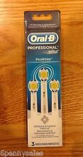 3 ORAL-B Pro-White Replacement Toothbrush Tooth Brush Heads Power Polisher NEW
