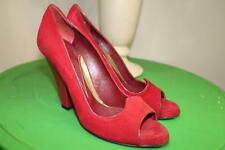 Zac Posen red suede peep toe pump shoe size 8.5B (taco500
