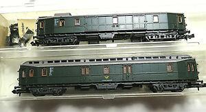 2 Packwagen DB/Post  Roco 24219 24228 (2263 2260) OVP