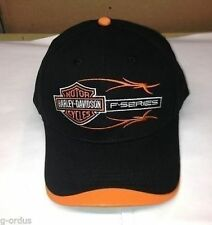 BRAND NEW BLACK / ORANGE FORD HARLEY DAVIDSON F150 F-150 OR SUPER DUTY HAT/CAP!