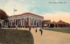 Tampa Florida Union Depot Street View Antique Postcard K58672
