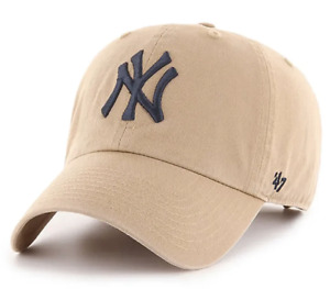 47 BRAND NEW YORK YANKEES 47 CLEAN UP: KHAKI ADJUSTABLE