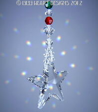 m/w Swarovski 40mm CLEAR STAR Christmas Holiday Ornament Lilli Heart Designs