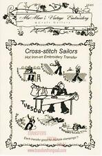 Cross-stitch Sailors DOW  Iron Embroidery Transfers MaMaw's Vintage Embroidery