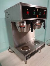 """"""" CURTIS GEMINI """" COMMERCIAL DUAL COFFEE BREWER W/HOT WATER SPIGOT, AIR FUNNELS"""