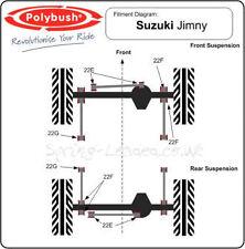 Polybush Front  Rear Panhard Rod Bush Kit for Suzuki Jimny :22E