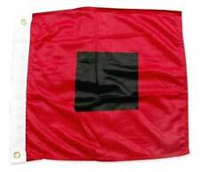 "18""x18"" Miami Hurricanes HURRICANE WARNING FLAG Sewn Applique Nylon Made in USA"