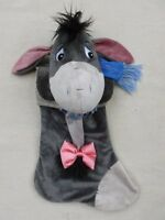 DISNEY DISNEYLAND WINNIE THE POOH EEYORE PLUSH CHRISTMAS STOCKING 22""