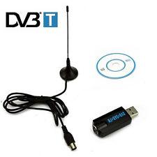 Tuner TV USB DVB-T Stick FM + DAB avec MCX Antenne numérique TNT Récepteur TV HD