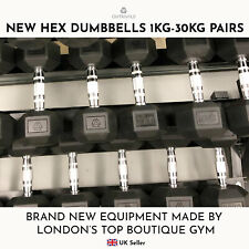 HEX DUMBBELLS 1kg-30kg Dumbbell Free Weights Pairs Home Fitness Gym IN STOCK
