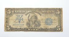 1899 $5.00 Indian Chief Silver Certificate - Large Note *0182