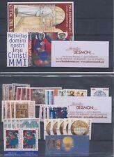 2001 Vaticano Francobolli Annata Completa 32 val 1 BF 1 Libr  Autom MNH **