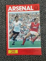 Arsenal v Tottenham 1986 First Division 6/9/86! FREE UK POSTAGE! LAST ONE!